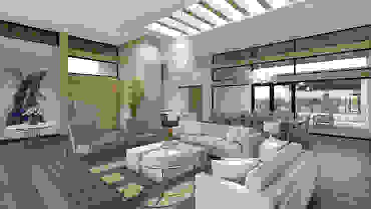 Sala - Recibidor Merarki Arquitectos Salones modernos