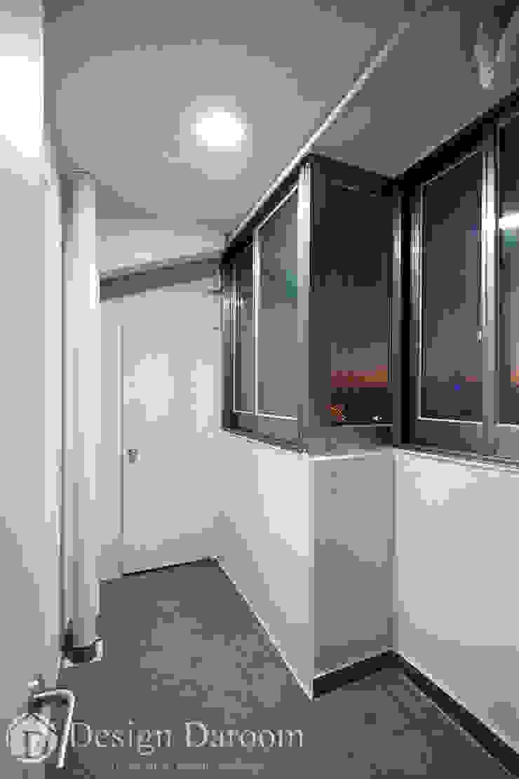 면목동 두원APT 다용도실 모던스타일 발코니, 베란다 & 테라스 by Design Daroom 디자인다룸 모던