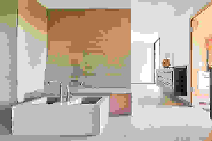 Wellnessbereich Steffen Wurster Freier Architekt Moderne Hotels Fliesen Beige