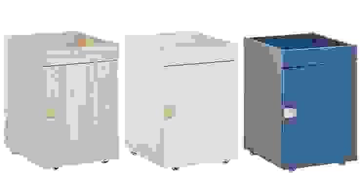 Rollcontainer oder Nachtschränkchen in 3 Farben erhältlich: Kiefer, Pistazie oder Blau von QMM TraumMoebel Modern Holz Holznachbildung