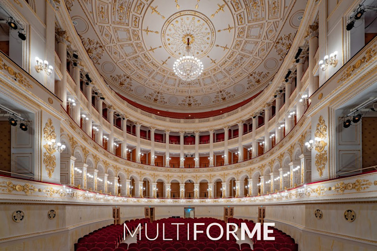 Galli Theater, Rimini Classic event venues by MULTIFORME® lighting Classic Glass
