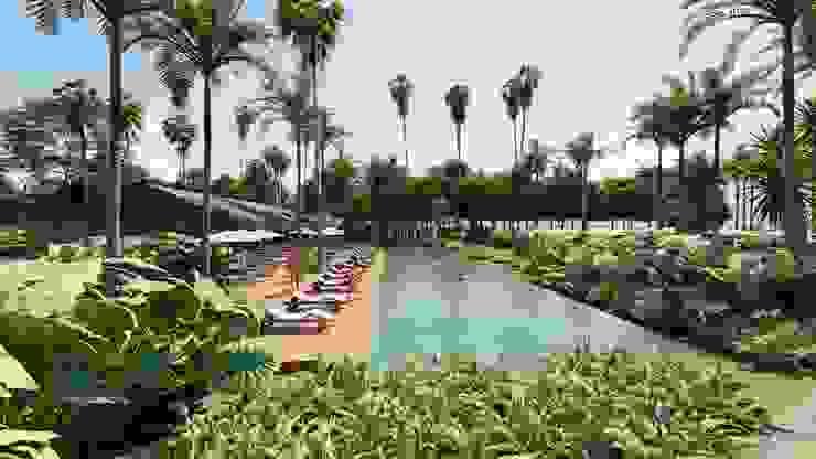 MAMBAZAMBIA – ECOHOUSING Piscinas de estilo tropical de TORO VARGAS Asesoria & Construccion s.a.s Tropical
