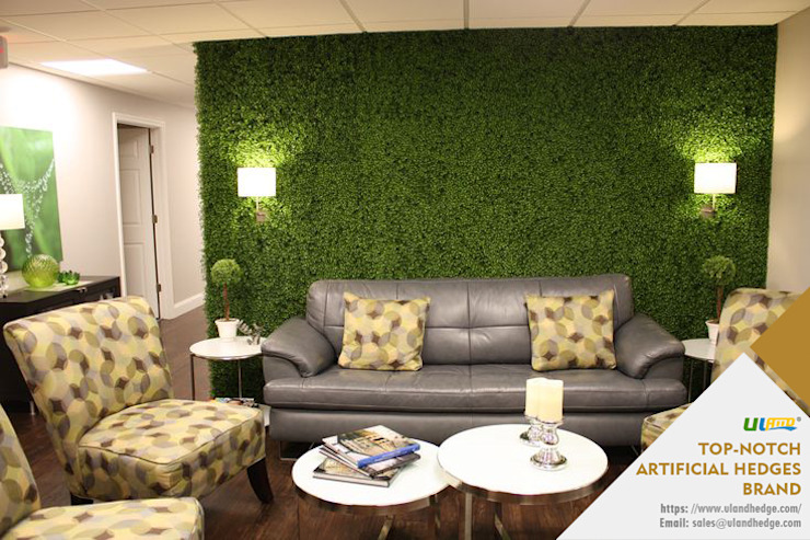Artificial Boxwood Panels for Backdrop Wall: modern  by Sunwing Industrial Co., Ltd.,Modern Plastic