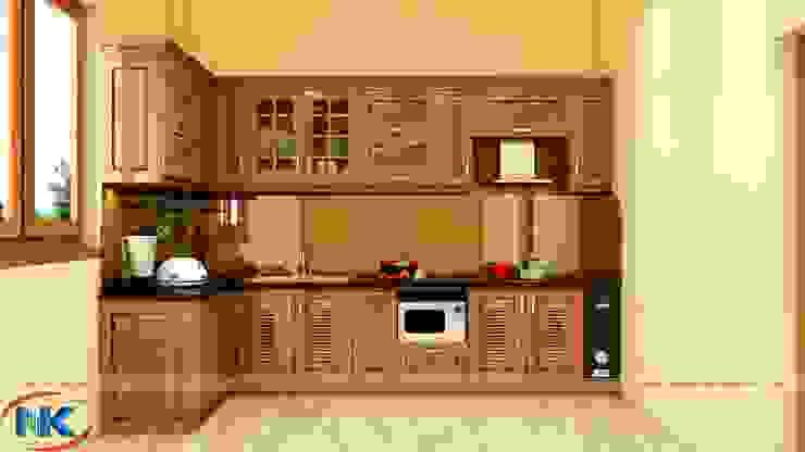 Địa chỉ đóng tủ bếp gỗ óc chó cao cấp hiện nay bởi Nội thất Nguyễn Kim