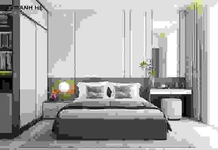 Vách ốp đầu giường Acrylic bóng gương Công ty TNHH Nội Thất Mạnh Hệ Phòng ngủ phong cách Bắc Âu