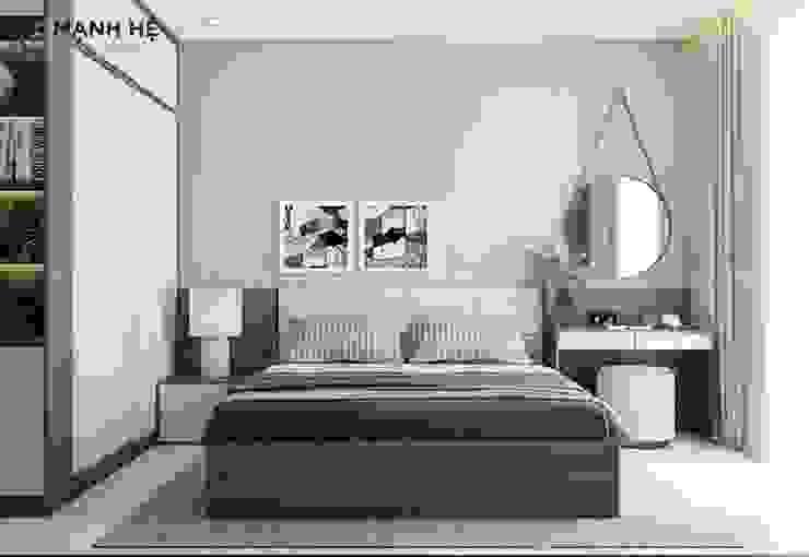 Đầu giường ngủ bọc nệm êm ái và quý phái Công ty TNHH Nội Thất Mạnh Hệ Phòng ngủ phong cách Bắc Âu