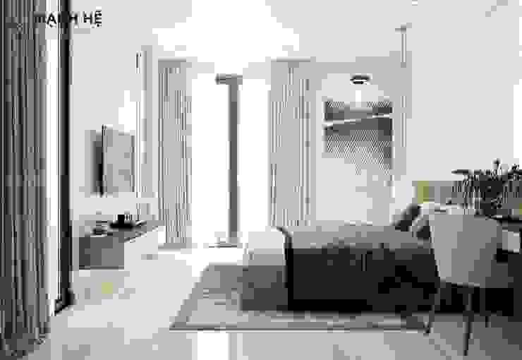 Cửa phụ ban công cho phòng ngủ tối ưu ánh sáng tự nhiên Công ty TNHH Nội Thất Mạnh Hệ Phòng ngủ nhỏ
