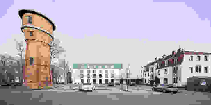 Erweiterung mit Stammhaus und Wasserturm Steffen Wurster Freier Architekt Moderne Hotels