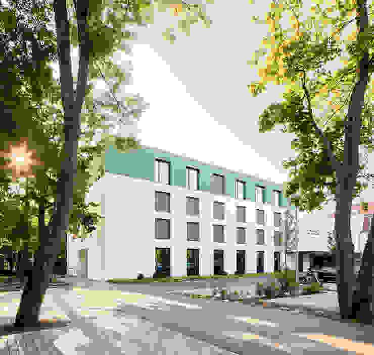 Fassade Erweiterung - Blick vom Parkplatz Steffen Wurster Freier Architekt Moderne Hotels