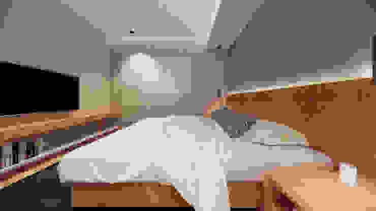Suíte Saulo Magno Arquiteto Quartos minimalistas Madeira Cinza
