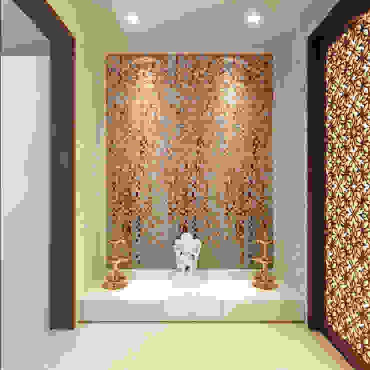 De Panache Modern Corridor, Hallway and Staircase Stone Beige