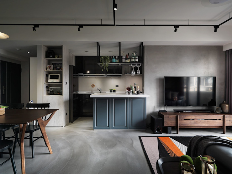 Industrial style kitchen by 陶璽空間設計 Industrial Iron/Steel