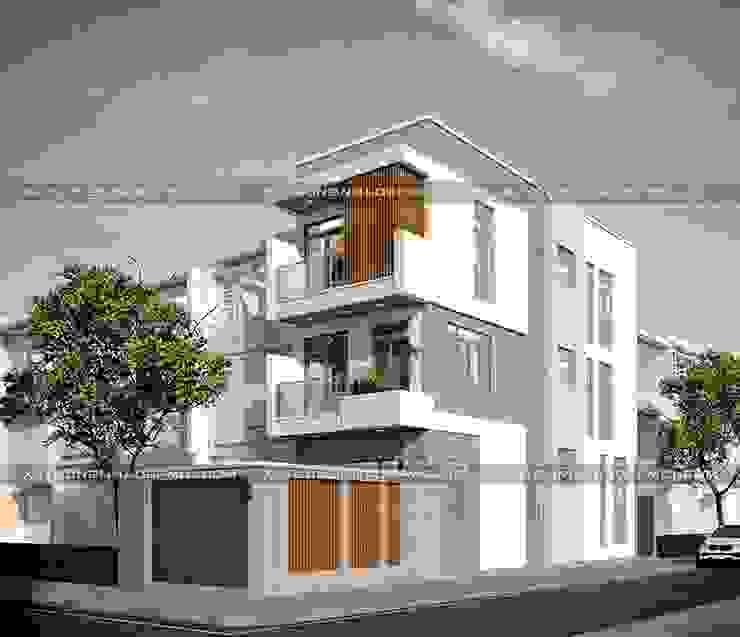 Mẫu thiết kế nhà góc 2 mặt tiền đẹp hiện đại bởi Công ty xây dựng nhà đẹp mới
