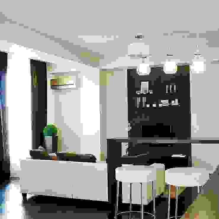 Квартира 68м.кв. г.Москва Гостиная в стиле минимализм от Orel Andre Минимализм