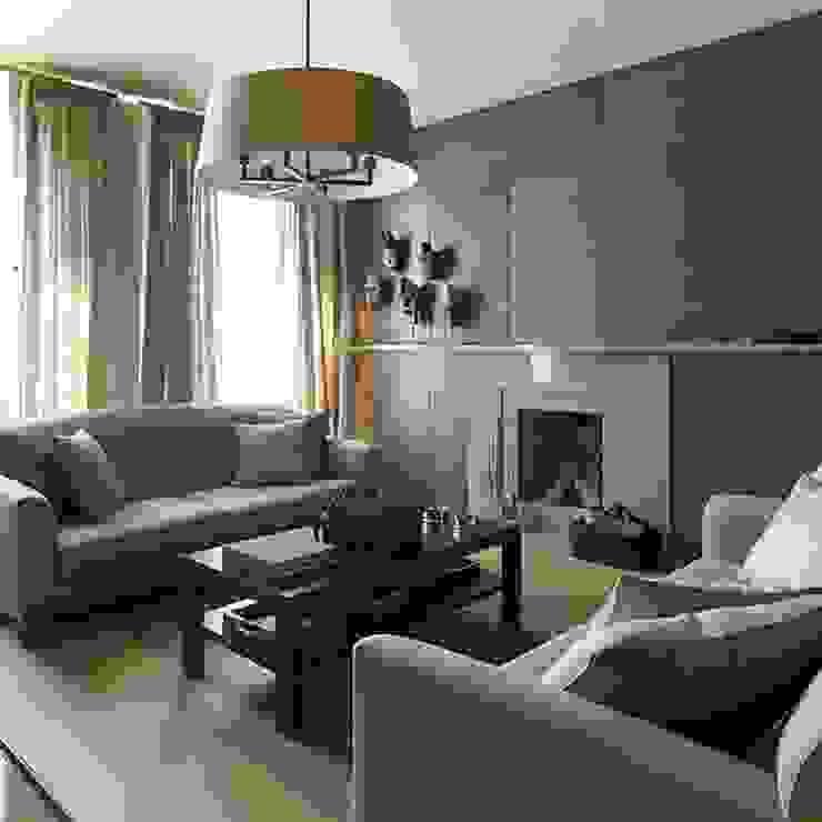 Квартира 130м.кв. г.Москва Гостиная в стиле модерн от Orel Andre Модерн