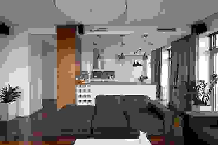 Квартира 88м.кв. г.Таллин Гостиная в скандинавском стиле от Orel Andre Скандинавский