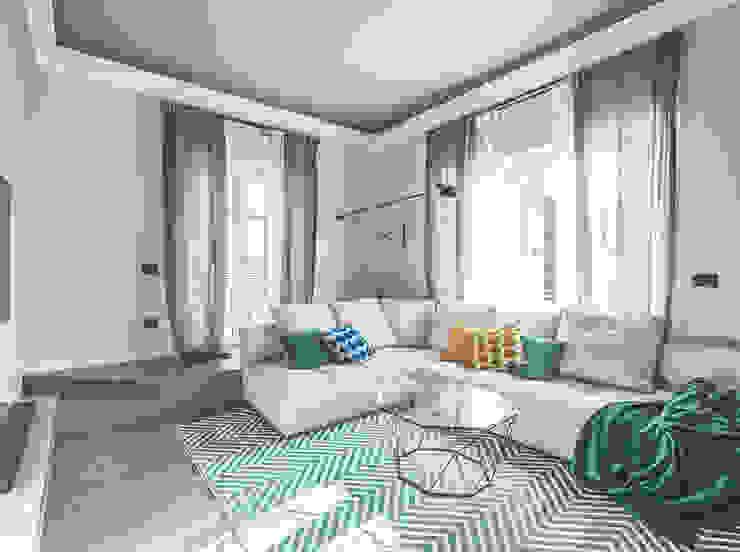 MODO Architettura Livings de estilo moderno Gris