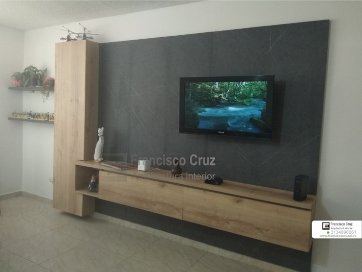 Mueble tv de Francisco Cruz Arquitectura Interior Minimalista