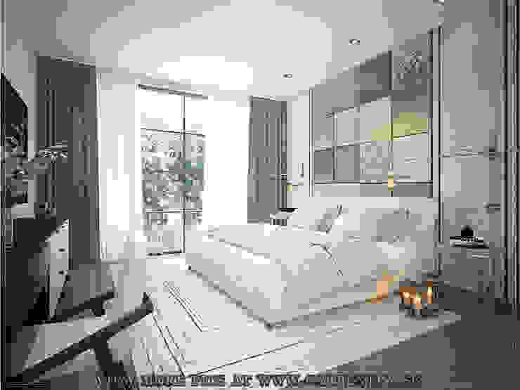 Master Bedroom Scandinavian style bedroom by Singapore Carpentry Interior Design Pte Ltd Scandinavian Stone