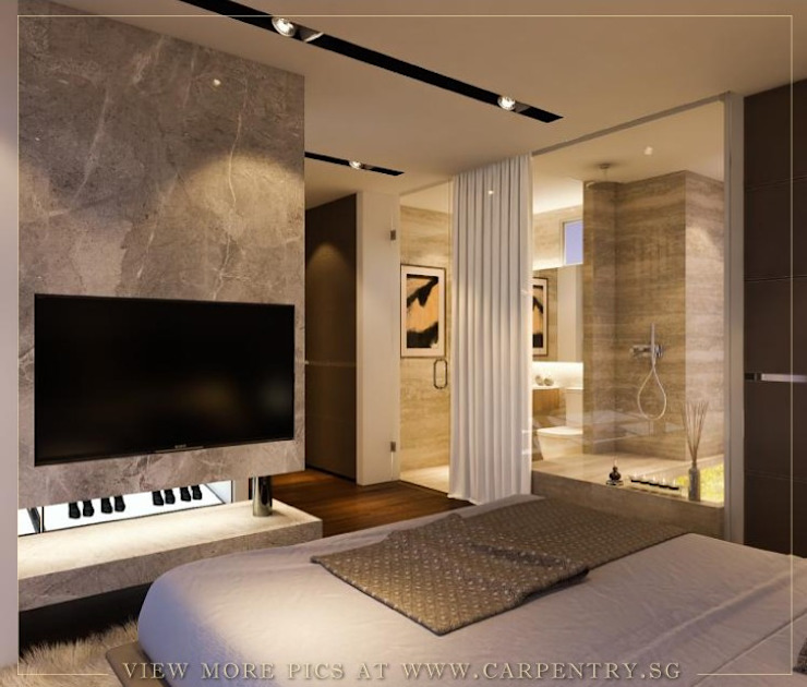Master Bedroom Modern style bedroom by Singapore Carpentry Interior Design Pte Ltd Modern Marble