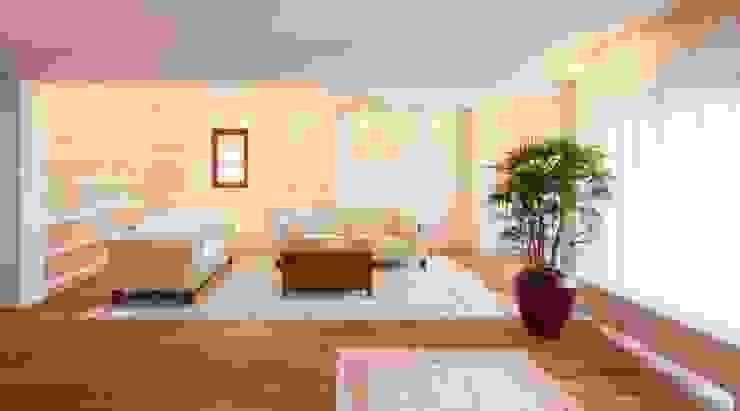 raumdeuter GbR Modern living room Wood White