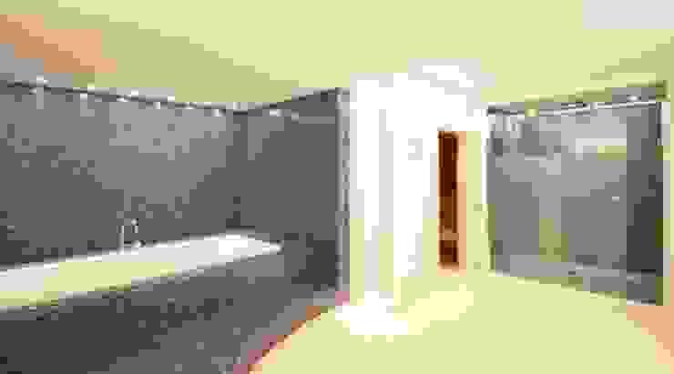 raumdeuter GbR Modern bathroom Tiles Blue