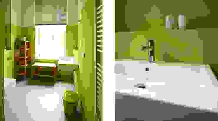 Wohnen mit Farbe – Regal unter Hochbett Ausgefallene Badezimmer von raumdeuter GbR Ausgefallen Fliesen