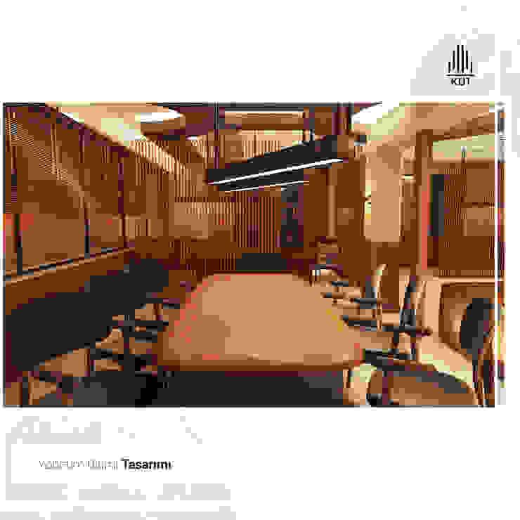 Oficinas de estilo rústico de Kut İç Mimarlık Rústico Madera Acabado en madera