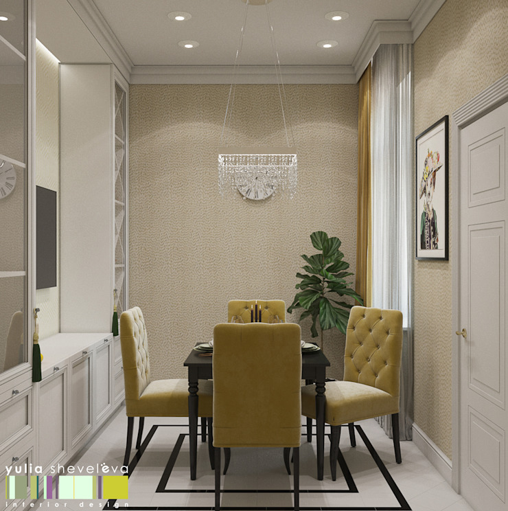 Classic style dining room by Мастерская интерьера Юлии Шевелевой Classic