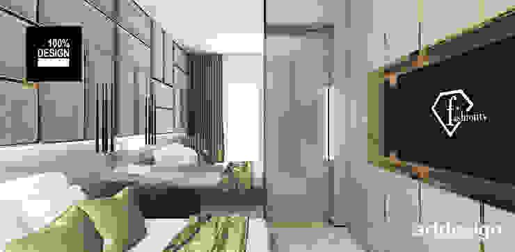 piękna sypialnia w beżach ARTDESIGN architektura wnętrz Nowoczesna sypialnia