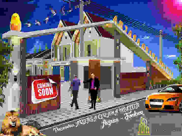 Gate Arjasa Graha Multita Residence Rajacombe Rumah tinggal Batu Bata White