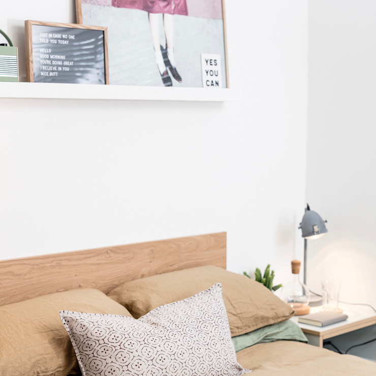 Student Living By WN Interiors WN Interiors + WN Store Modern style bedroom White