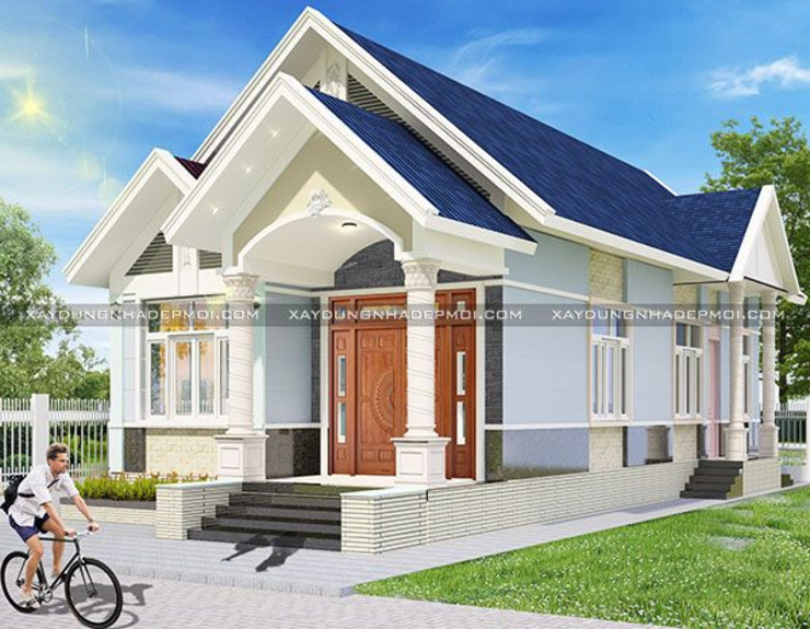 Thiết kế nhà cấp 4 ngang 6m dài 20m hiện đại bởi Công ty xây dựng nhà đẹp mới