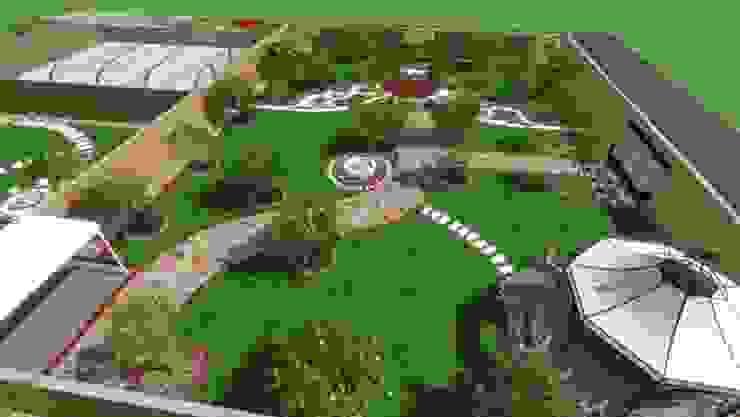 ثيل طبيعي تنسيق حدائق 0565864996 Garages & sheds الألياف الطبيعية Green