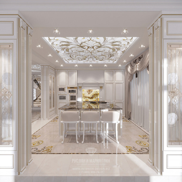 Cocinas de estilo clásico de Студия дизайна интерьера Руслана и Марии Грин Clásico
