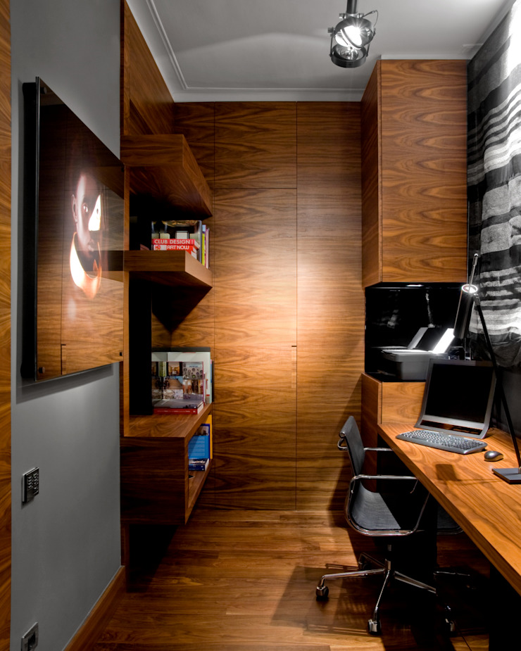 MANUEL TORRES DESIGN Eclectic style study/office Wood effect