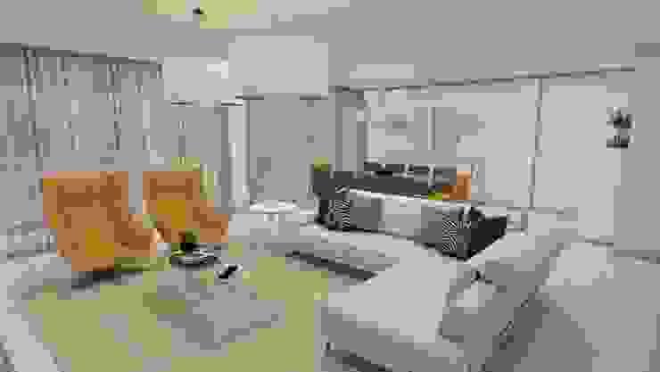 Zona de estar Ines Peste arquitectura e design Salas de estar modernas