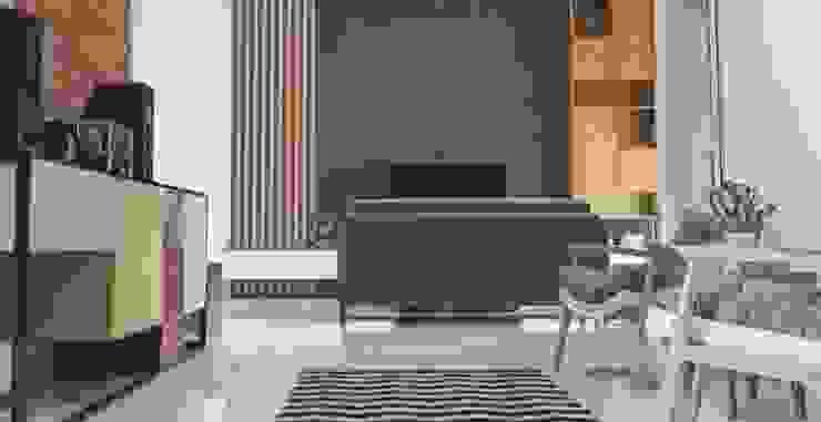 Cilimus Residence Ruang Keluarga Modern Oleh CV. beddo design concept Modern Kayu Wood effect