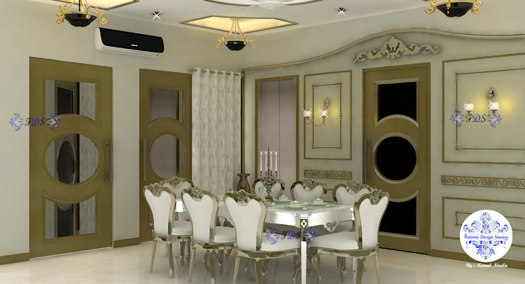 Classic Dining Room By Futomic Classic style dining room by Futomic Design Services Pvt. Ltd. Classic Wood Wood effect