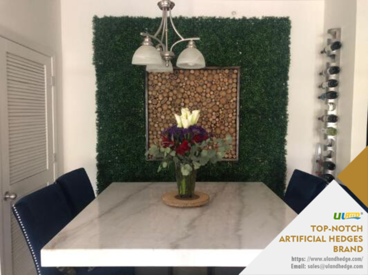 Dining Room Wall Decoration with Uland Artificial Boxwood: modern  by Sunwing Industrial Co., Ltd.,Modern Plastic