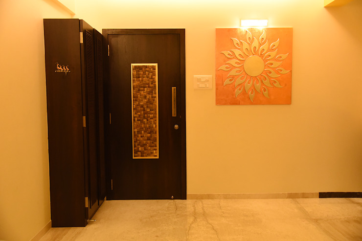 Entrance Foyer Ornate Projects Inside doors Plywood Multicolored