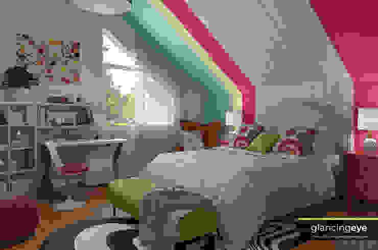 Dormitorio Pop Art – ecléctico Glancing EYE - Asesoramiento y decoración en diseños 3D Recámaras pequeñas