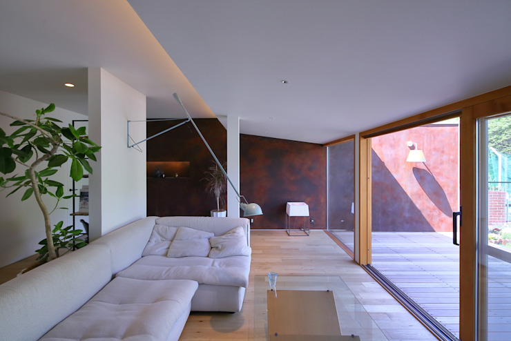 studio m+ by masato fujii Living room Iron/Steel