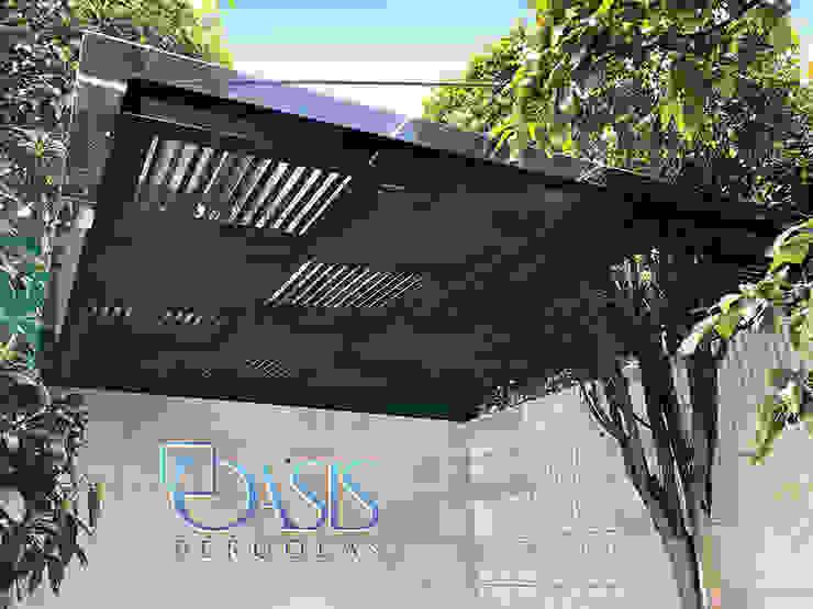 Domo Híbrido para Terraza y Jardín Oasis Pérgolas Balcones y terrazas de estilo moderno Madera