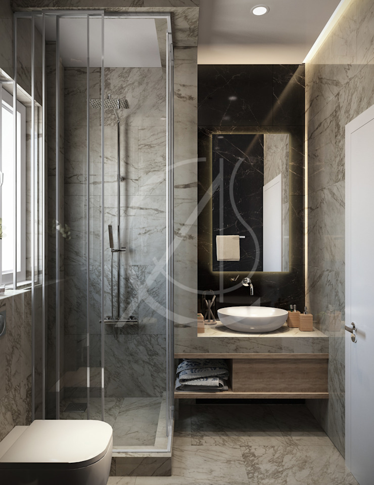 Luxury Neoclassical Palace Interior Design Baños de estilo clásico de Comelite Architecture, Structure and Interior Design Clásico