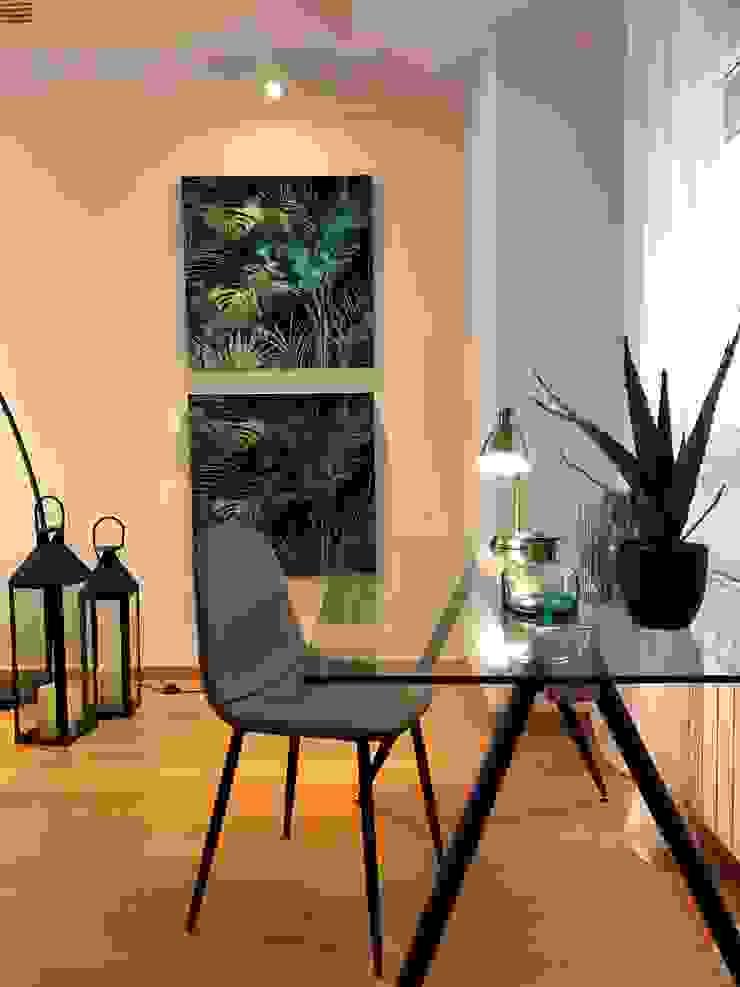 Decoración de Estudio integrado en salón de A interiorismo by Maria Andes Moderno