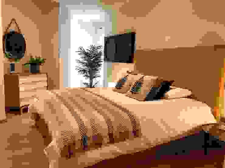 Dormitorio de aires étnicos de A interiorismo by Maria Andes Moderno