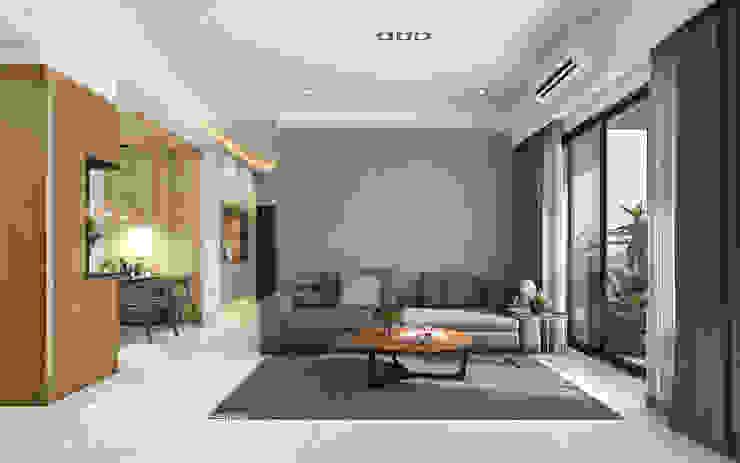 沙發背牆 根據 木博士團隊/動念室內設計制作 日式風、東方風