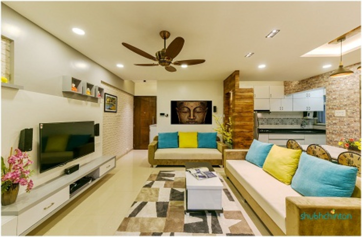 living room : classic  by Shubhchintan Design possibilities,Classic Plywood