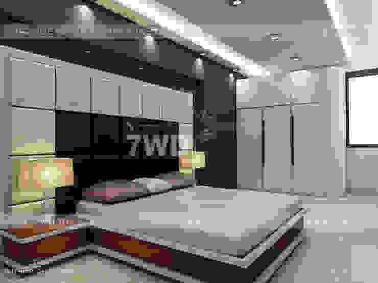 INTERIOR DESIGNERS & TURNKEY SERVICE - Punjabi bagh 7WD Design Studio Small bedroom Solid Wood Beige